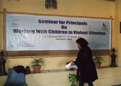 Workshop in Kathmandu Trauma Bearbeitung